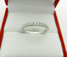 Solid 14k White Gold Natural Diamonds 0.40 tcw Wedding Band Ring