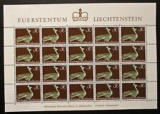 Sello LIECHTENSTEIN Stamp Yvert y Tellier nº485 x20 De Hecho De La Hoja N Y5