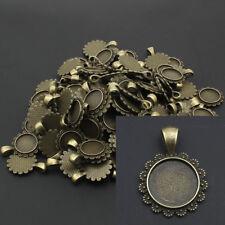 FASSUNGEN BronzeFARBE 20 Stück für 18x25mm QUADRATISCHE Cabochons p00099x8