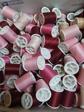 Coats & Clark Dual Duty Polyester Thread Mix PINKS Lot of 4 spools 280+  yds ea