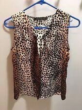 """Leopard print """"silky"""" Anne Klein suit tank top women's size 0"""