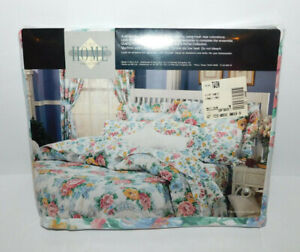 """NIP FLORAL TWIN FLAT BED SHEET 180 THREAD 66"""" X 96"""" VALUE RIGHT HOME COLLECTION"""