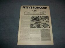Richard Petty's 1971 Plymouth Roadrunner NASCAR Race Car Info Article