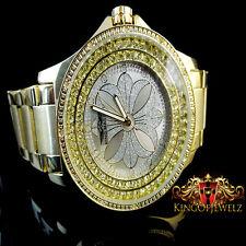 12 REAL DIAMOND MEN KING MASTER JOJINO JOJO JAPAN MOVEMENT G/P METAL BAND WATCH