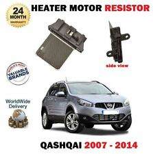 FOR NISSAN QASHQAI 1.5 DCI 1.6 2.0 DCI 2007-2014 NEW HEATER MOTOR RESISTOR