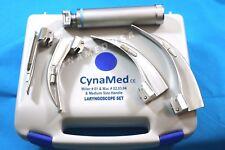 Laryngoscope Mac MACINTOSH + MILLER Blades & 1 Handles EMT Anesthesia Intubation