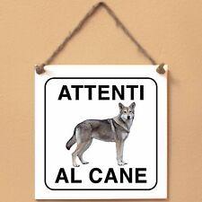 Cane lupo di Saarloos 3 Attenti al cane Targa piastrella cartello