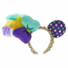 Disney Parks Minnie Mouse Mardi Gras Ears Headband With Tag
