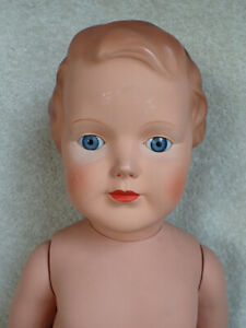 """Vintage Cellba Celluloid Doll Glass Eyes w/ Hang Tag 22"""""""