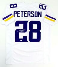 Adrian Peterson Autographed Solid White Pro Style Jersey- Beckett Auth *2