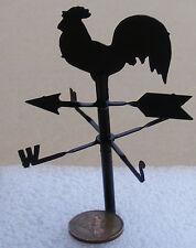 Dolls House 1:12 Black Metal un pezzo di Gallo banderuola Accessorio in miniatura
