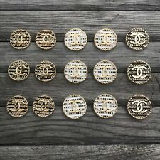 Buttons Chanel Lot 15pcs