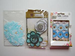 Prima & BoBunny Flowers Floral Embellishments Lot 2