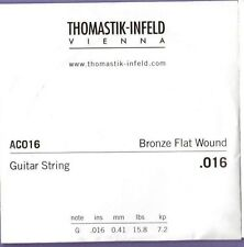 Thomastik AC016 Bronze Flat Wound Single String .016 Gauge