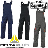 Delta Plus Mach2 Polycotton Mens Work Bib and Brace Dungarees Overalls Trousers