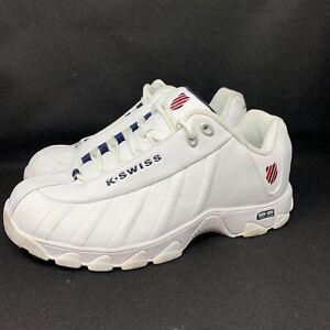 K-Swiss Men's ST329 CMF Memory Foam Leather White Training Size 13 Shoes