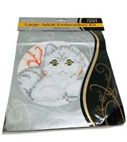 """Sewing Box Cross Stitch Kitten Kit 5"""" x 7"""" Sealed New Crafting Project Gift"""