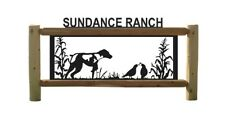 Dogs - German Shorthair - Quail -Personalized Outdoor Signs