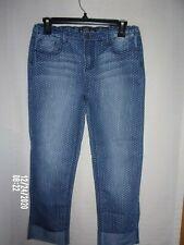 Preowned Vanilla Star Girls Capri Blue Polka Dot Jeans Size 16