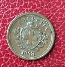 Suisse -  Rare et Très  Jolie monnaie de  1 Rappen 1903   B - millésime rare