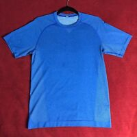Lululemon Mens Blue Metal Vent Tech SS T Shirt Top Yoga - Size Small S