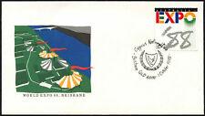 Australia 1988 Expo, día nacional de Chipre Cubierta #C44025