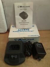 NOS Midland #ACC470 Desktop Unibersal Charger W/ ACC476 Cup For 18-B02 Batteries