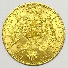 1915 Ducat 1 oro austríaco oficial del restrike-más alta pureza de oro 23 3/4 CT