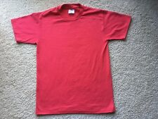 New listing Vintage 1980s 1990s Hanes Heavyweight Plain Blank Red T-Shirt vtg 80s faded soft