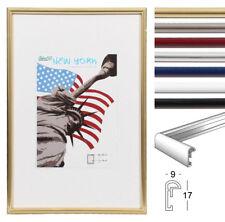New York Bilderrahmen 9x13 cm bis 50x70 cm 18 Größen 7 Farben Foto Rahmen