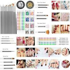 Joyjuly Professional Nail Art Supplies With 15Pcs Brush Set, 5Pcs Dotting Pen, 2