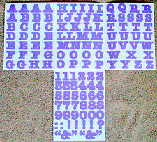 Creative Memories Alphabet Letter ABC and number 123 stickers - Purple