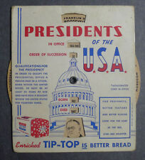 1940's Ward's Tip Top Bread President of the USA