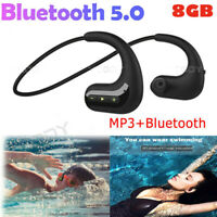 Waterproof Sports Bluetooth Headset Wireless Headphones In-Ear Earbuds Earphones