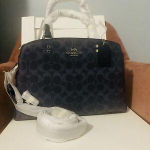 New Nwt Coach Lillie Carryall Crossbody Handbag Bag 91132 Denim Midnight Blue