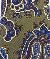 Robert Talbott Vintage Mens Necktie Tie 100% Silk Paisley Scroll Hand Sewn USA