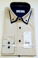 Herren Streifen Langärmlig Formelles Hemd Freizeit Business Büro Kleidung (471)