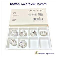 8 BOTTONI SWAROVSKI ORIGINALI ORIGINALE 23mm CRISTALLO ART. 3015 CRYSTAL CUCIRE