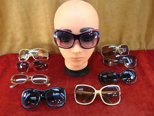 9 LOT Vintage WOMEN'S SUNGLASSES Mod BIG ROUNDED SQUARE Jackie-O Audrey Hepburn