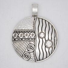 Premier designs magnetic antique matte silver plated necklace slide pendant