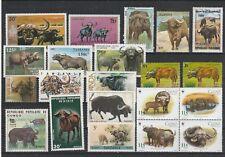 Sammlung Afrikanische Büffel - 68 Werte** (FG3145)
