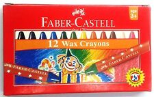 Faber-Castell  12 Wax Crayons  Assorted Shades   Oil Pastels  57 mm each