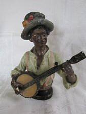 Vintage Banjo Playing American Negro Bust AS IS  but great for Musician