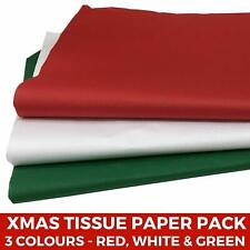 Christmas Tissue Paper Pack - Red Green White Festive Wrapping Acid Free Xmas