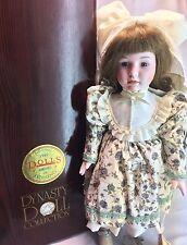 "Dynasty Collection Vintage Brunette Hair Cayala 16"" Porcelain Bisque Doll"