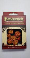 Q Workshop Pathfinder Dice 7 x Polyhedral Set Curse of the Crimson Throne RPG