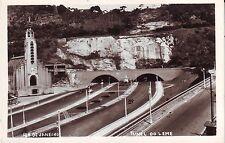Brazil Brasil Rio de Janeiro - Tunel do Leme Tunnel old real photo postcard
