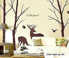 Deer Wall Decals Nature Birch Tree Rustic Nursery Wall Decor Sticker Kids New