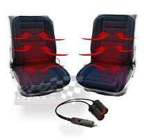 Par de calefacción calefacción de coche 12v Cubierta de asiento Cojín Con Termostato + Doble Adaptador