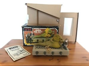 Vintage Star Wars Jabba the Hutt Playset Complete w Box Inserts Instructions